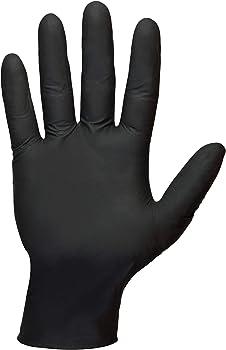 Shamrock 6mil Black Nitrile Powder-Free Gloves (Medium)