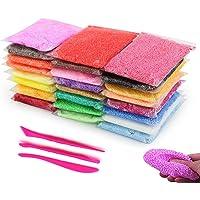 BESTZY Slime Fluffy DIY Slime Kit - 24 Couleurs Boue de Neige avec 3 Outils, sûr et Non Toxique, Argile Anti-Stress pour Enfants et Adultes