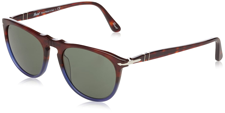 Persol Unisex Sonnenbrille PO3114S, Gr. Small (Herstellergröße: 53), Mehrfarbig (Terra e Oceano/Grey 102231)