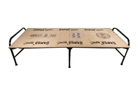 Klassic Single Size Folding Bed | Iron Folding Bed | Wood Folding Bed for Household Purpose