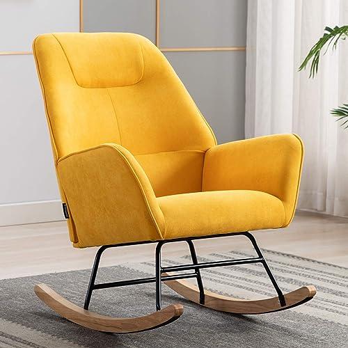 Artechworks Modern Linen Accent Rocking Chair