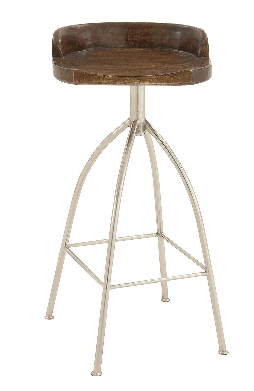 Amazoncom Deco 79 80907 Metal Wood Bar Stool 16 X 35 Kitchen