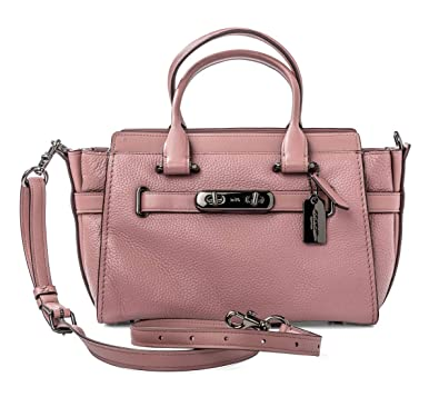 25d7aa29ccbc9 Coach Handbag Bag Leather Swagger 27 dusty rose  87295 Pink New  Handbags   Amazon.com