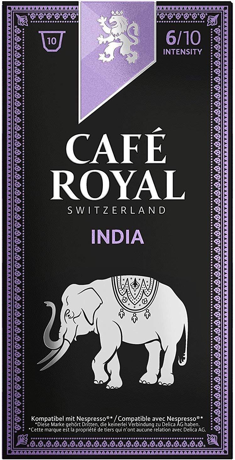 Café Royal India Single Origin, 50 Nespresso kompatible Kapseln, 5er Pack (5 x 10 Kaffeekapseln)