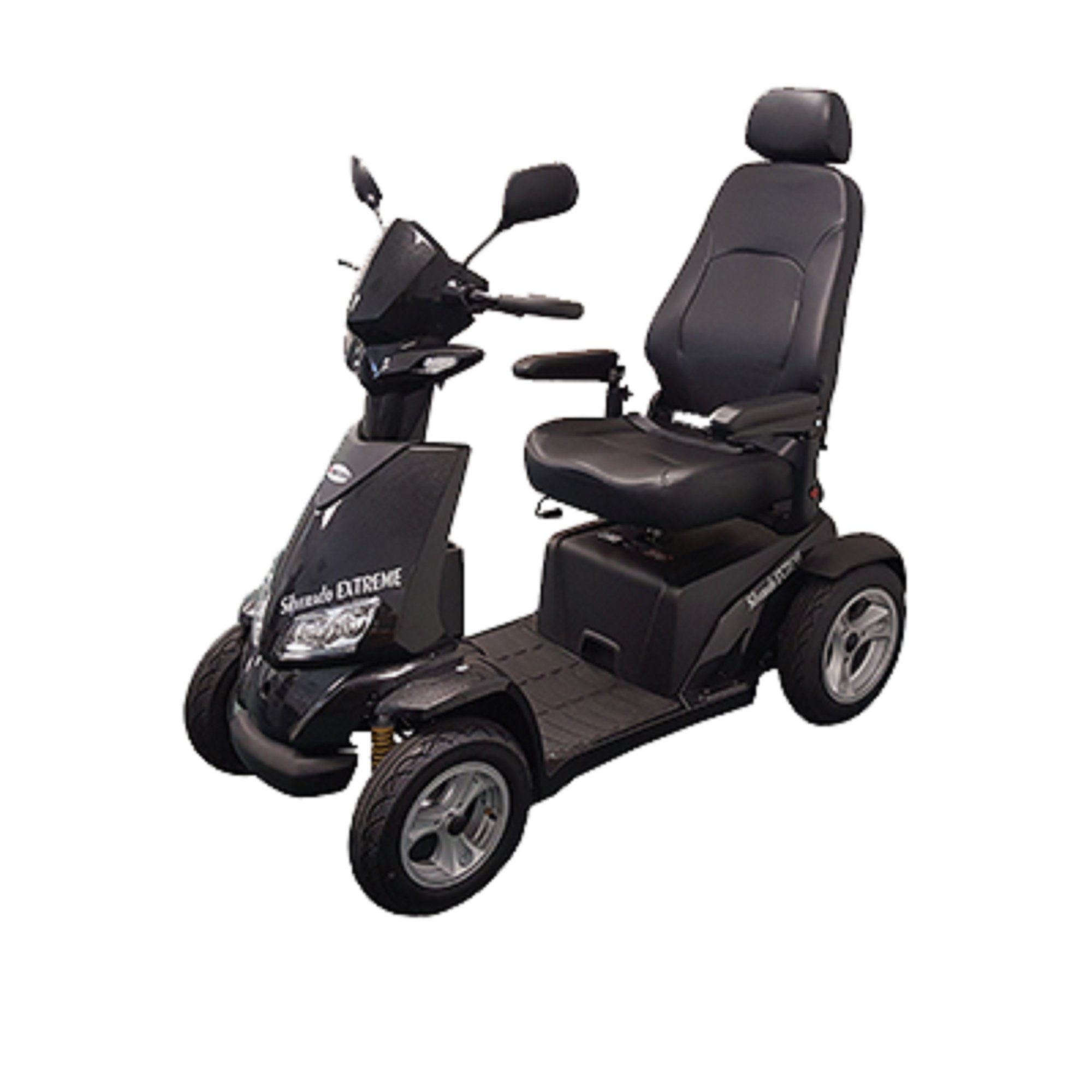Merits Health Products - Silverado Extreme - 4-Wheel Full Suspension Electric Scooter - 20''W x 18''D - Black