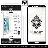 TheGiftKart Honor 7X Tempered Glass: Korean Full Glue Edge-To-Edge Tempered Glass Screen Protector (Black) | Full Screen Coverage | Nippa Glue for Excellent Adhesion