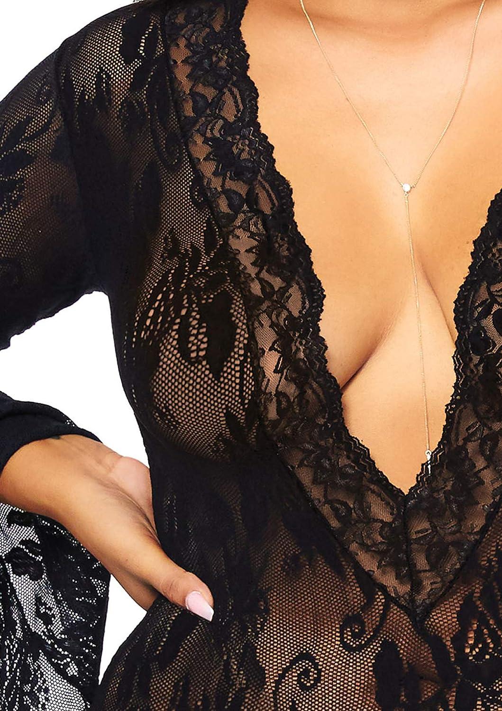 Leg Avenue Women's Plus Size Lingerie, Black: Clothing