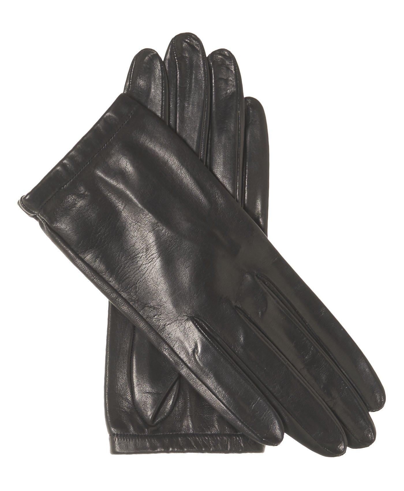 Fratelli Orsini Women's Unlined Italian Fashion Leather Gloves with Short Wrist Size 8 Color Black