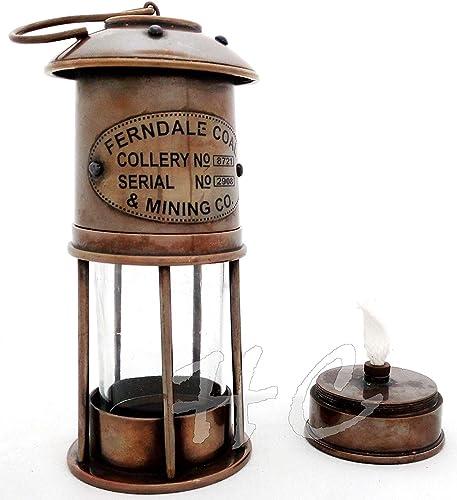 Calvin Oil Lanterns – Antique Brass Ferndale Coal Nautical Minor Oil Lamp 7 Ship Lanterns Antique Brass Oil Lamp Ship Lantern Lamp