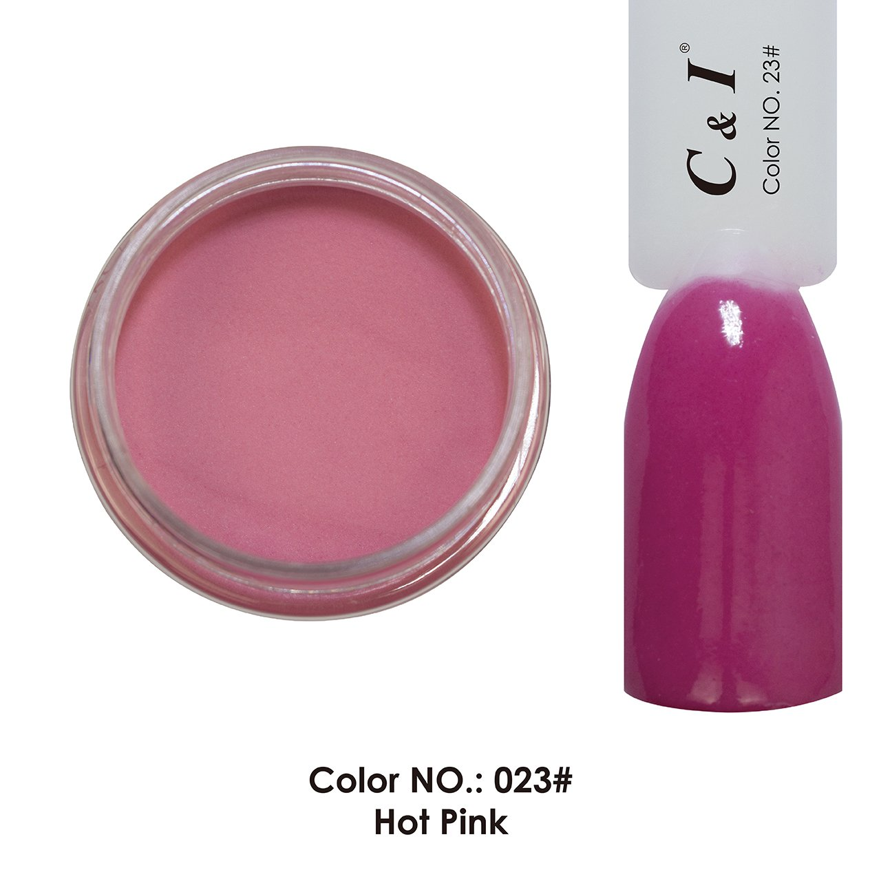 C & I Dipping Powder Color No.023 Hot Pink Red Color System Fulei Trading