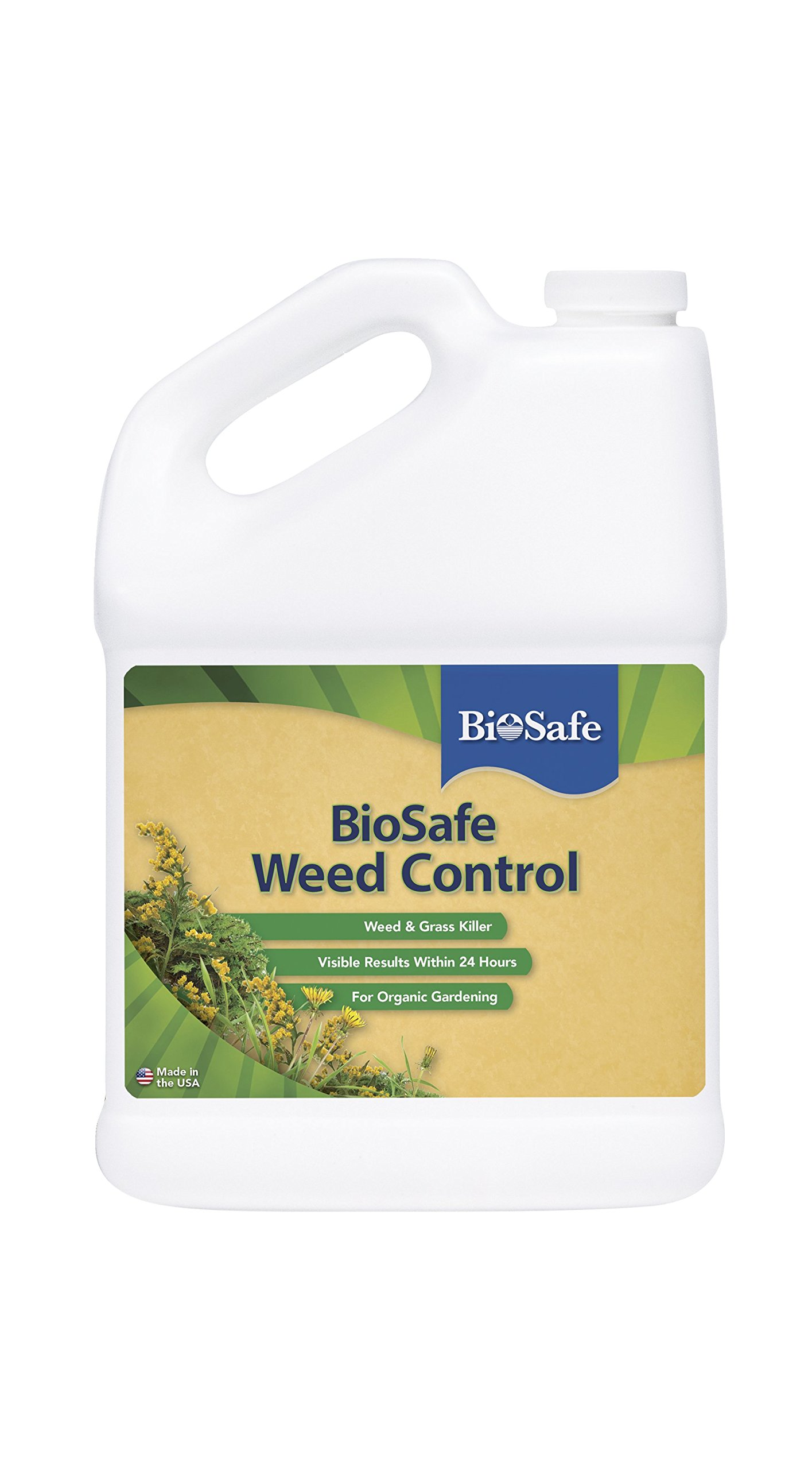 BioSafe Weed Control Concentrate - 1 Gallon - Non-Selective Herbicidal Soap - Weed Killer - OMRI Listed - Organic - EPA Registered. Safe for People, Pets and the Environment.