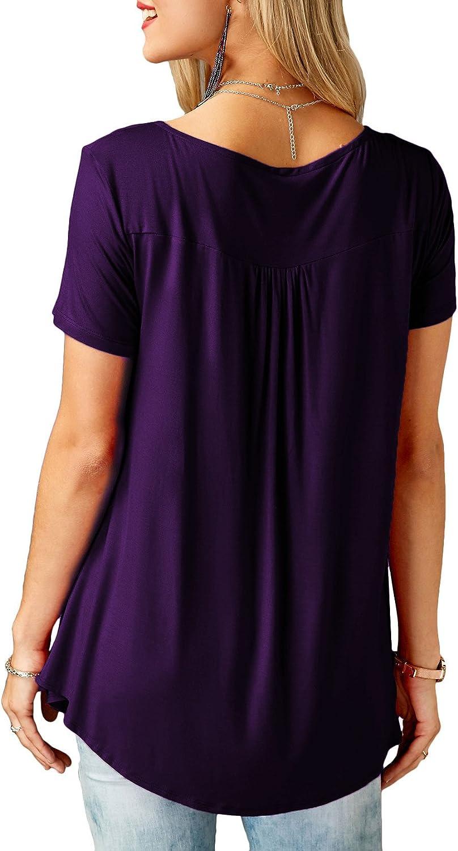 KISSMODA Chemises pour Femmes boutonn/ées /à Manches Longues et Tuniques pour Femme