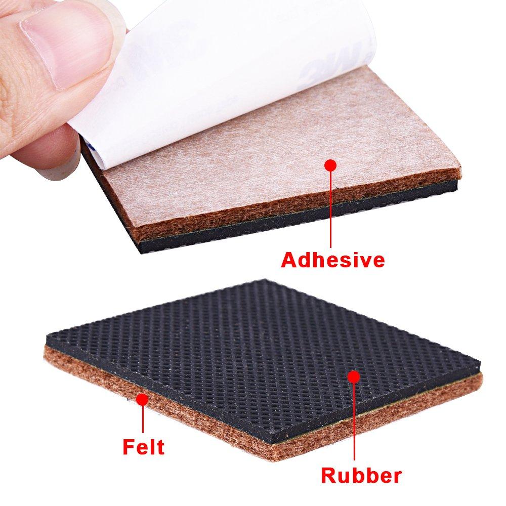 Siquk 54 Pieces Rubber Feet Non Slip Furniture Pads Self Adhesive
