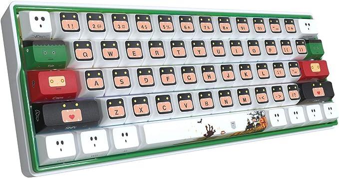 Weather Snowman Snowflake Illustration Keycap Mechanical Keyboard PBT Gaming Upgrade Kit
