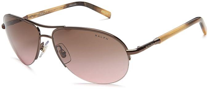03046140c4 Amazon.com  Ralph by Ralph Lauren Women s 0RA4060 Aviator Sunglasses ...