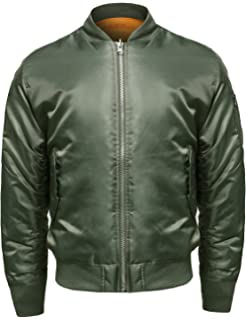 261e844d248 Amazon.com  MAXXSEL Bomber Jacket for Mens Big and Tall Reversible ...