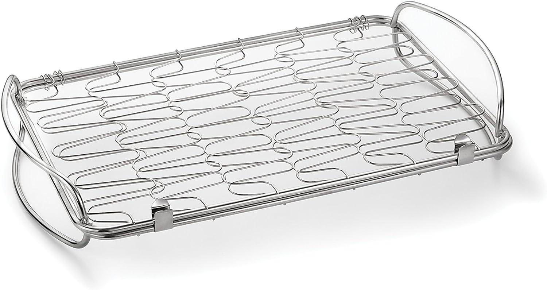 Outset 76358 Stainless Steel Mini Flex Grill Basket, Metallic