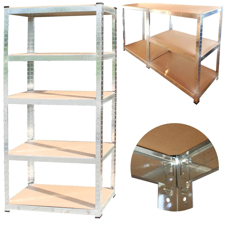350 kg Steckregal + kostenloser Versand / 5 Bö den Kellerregal Lagerregal 170x75x30 cm Werkstatt-Regal Estexo H&G