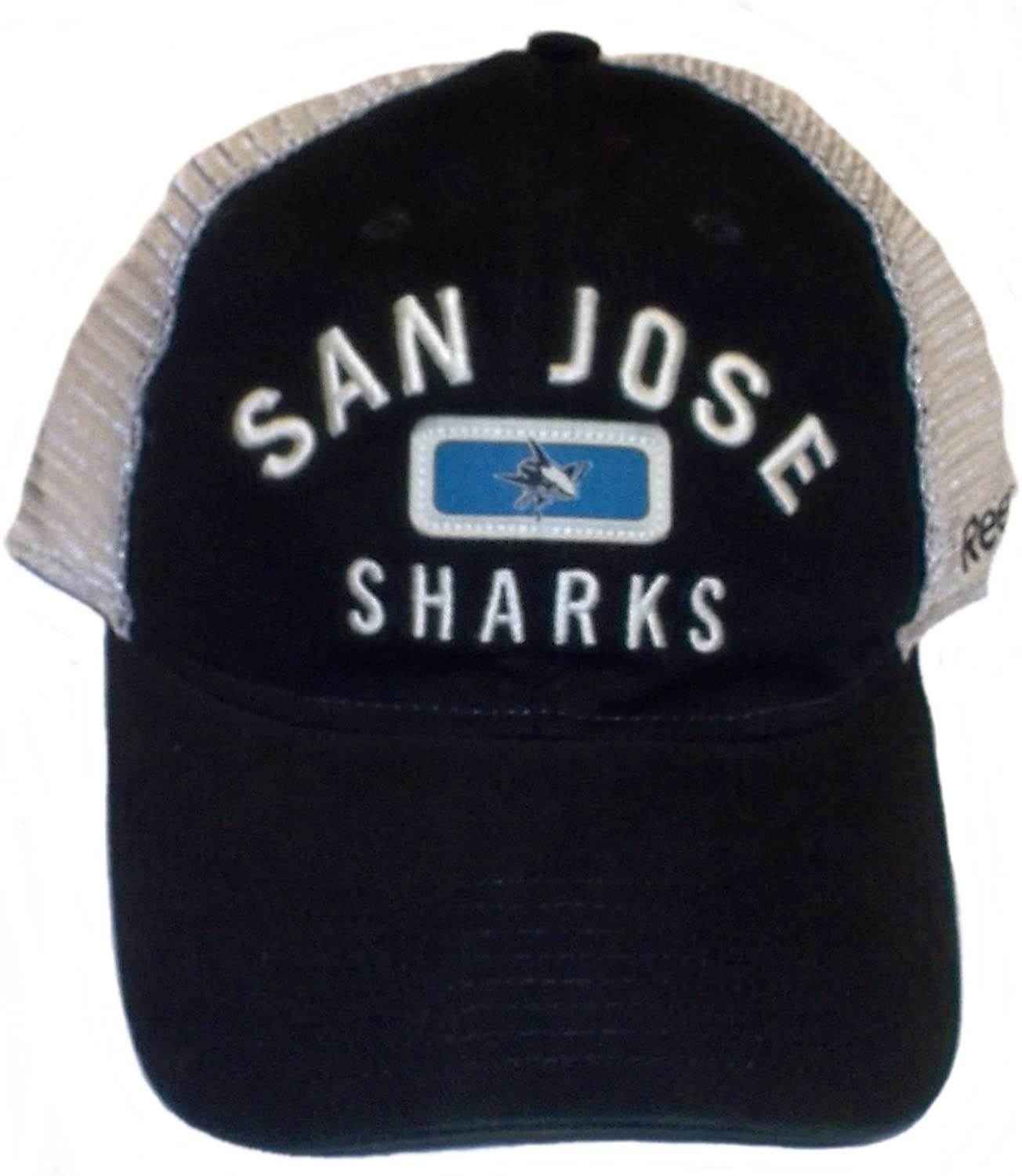 Reebok San Jose Sharks Black Basic Logo Wool Blend Adjustable Hat//Cap