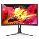 "AOC CQ32G2S 32"" Curved Frameless Gaming Monitor 2K QHD, 1500R Curved VA, 1ms, 165Hz, FreeSync, Height adjustable, 3-Year…"