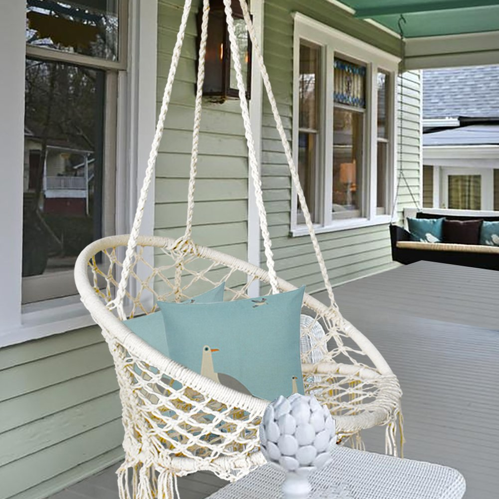 BHORMS Hammock Chair Macrame Swing for Any 