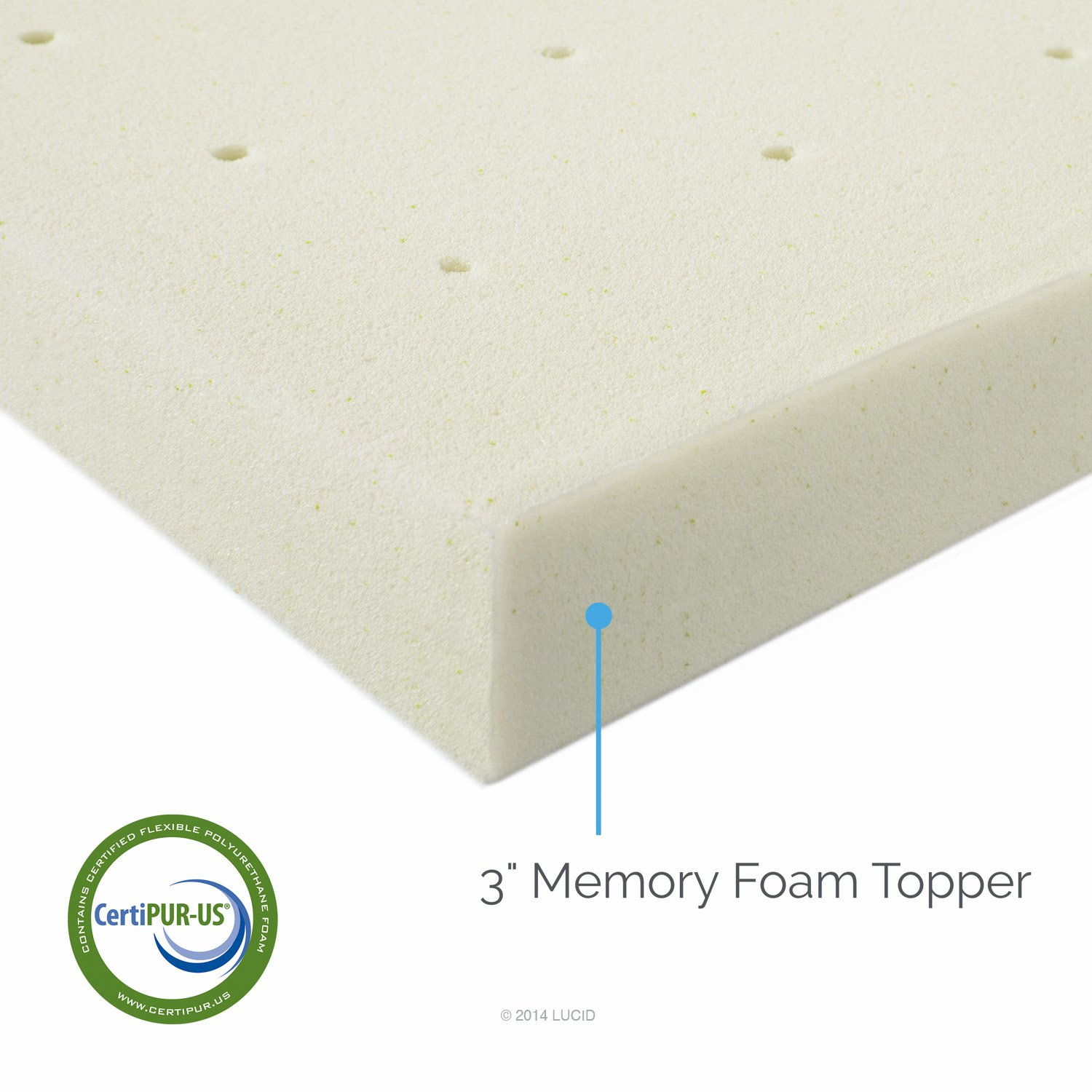 LUCID 3 Inch Ventilated Memory Foam Mattress Topper Review