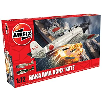 Airfix 1:72nd Scale WWII Nakajima B5N2 'Kate' Plastic Model Kit: Toys & Games