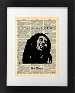 Amazoncom Real Gold Foil Bob Marley Print Hes Not Perfect