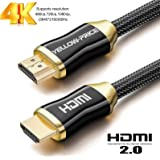 HDMI Cable- for Samsung Xbox PlayStation PS3 PS4 nVidia Apple TV Fire TV Netflix (25ft=7.6 meters) 1m 2m 3m 5m 10m 15m (4K 60Hz HDR UHD 4:4:4) - HDCP 2.2 - HDMI 2.0 High Speed 18Gbps - 3D Audio Return Ethernet 2160p 1080p