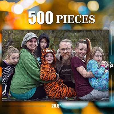 Custom Jigsaw Puzzle for Adults Kids 500 Pieces - Personalized Photo Gifts Custom Puzzles from Photos for Family and Friends: Toys & Games