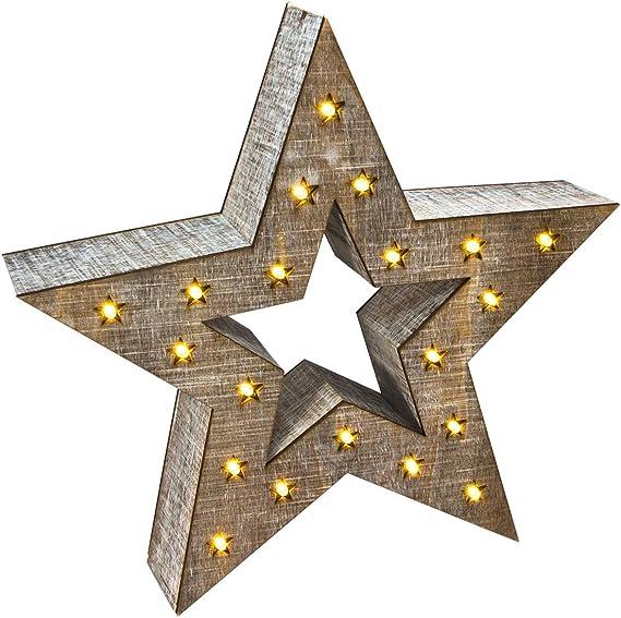 estrella de madera vintage