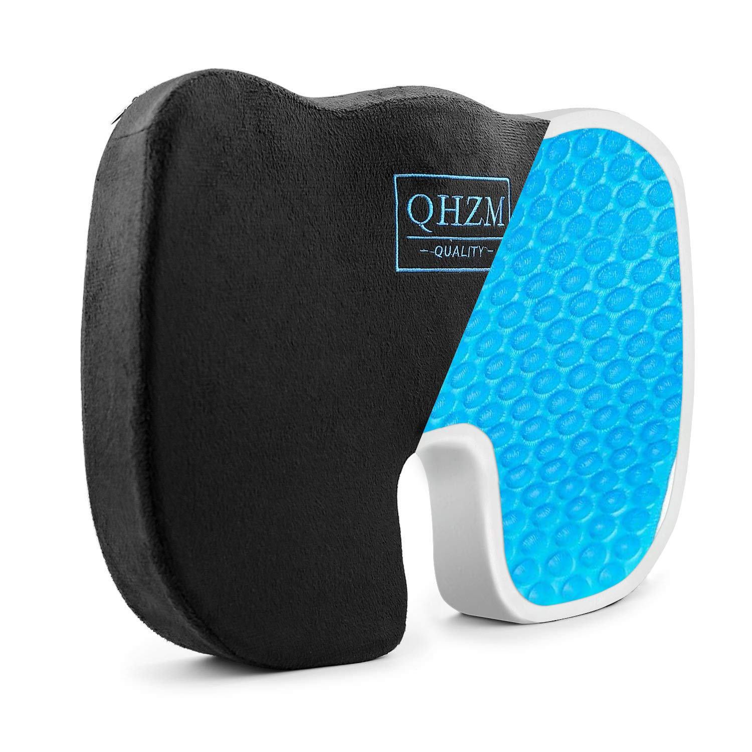 Memory Foam Seat Cushion for Car/Office Chair, Ventilated Orthopedic Seat Cushions to Relieve Back Sciatica Tailbone Pain, Great Gifts for Drivers/Office