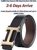 Fashion Designer Gold H Buckle Unisex Belt for Men or Women {3.8cm Belt Width}