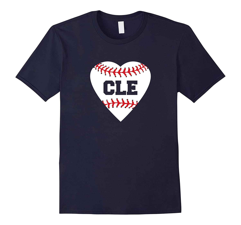 Cleveland Ohio Baseball Love Heart CLE T-Shirt-T-Shirt