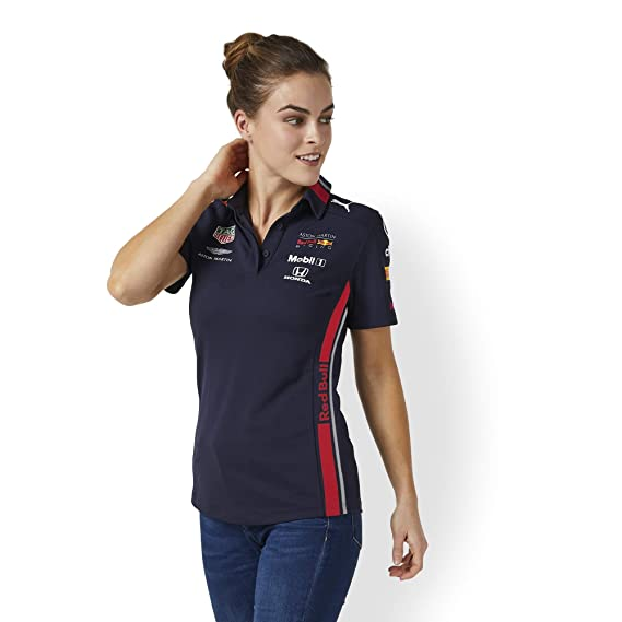 Red Bull Racing Official Teamline Camisa Polo, Azul Mujer Small ...