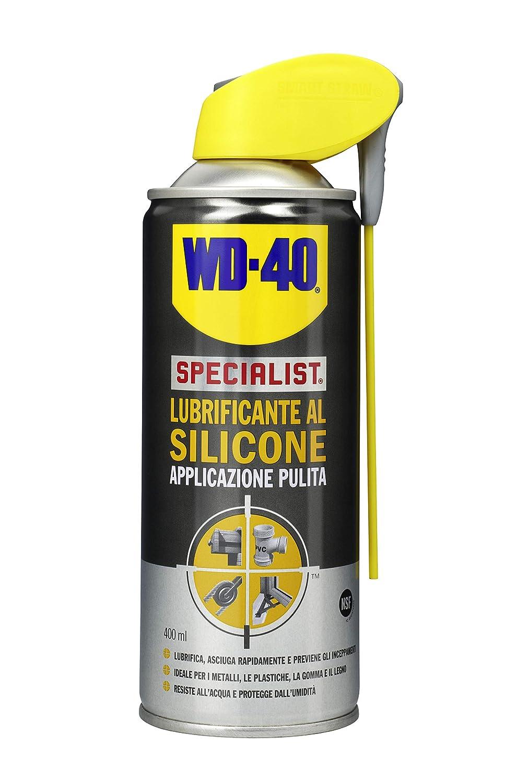 WD-40 Specialist - Lubrificante al Silicone Spray Applicazione Pulita con Sistema Doppia Posizione - 400 ml