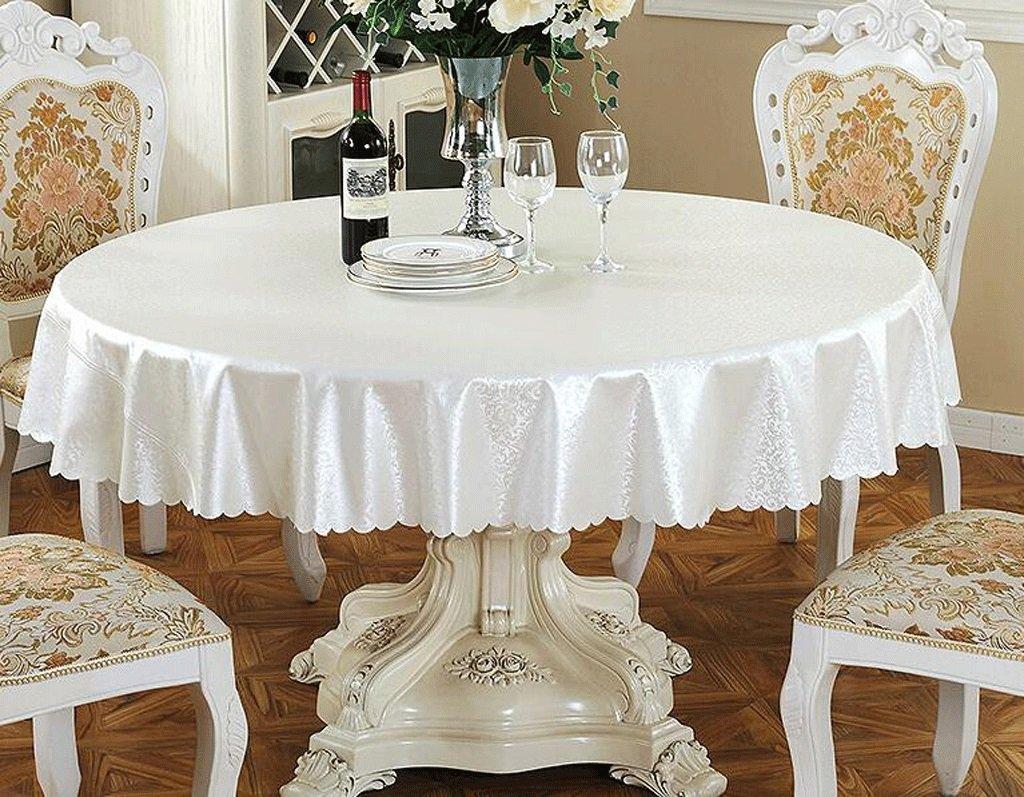 Jingdian fzw Mehrfarbige runde Tischdecke (Farbe   Bright Weiß, größe   Round 180) B075D8YGH7 Tischdecken Der neueste Stil   Elegant