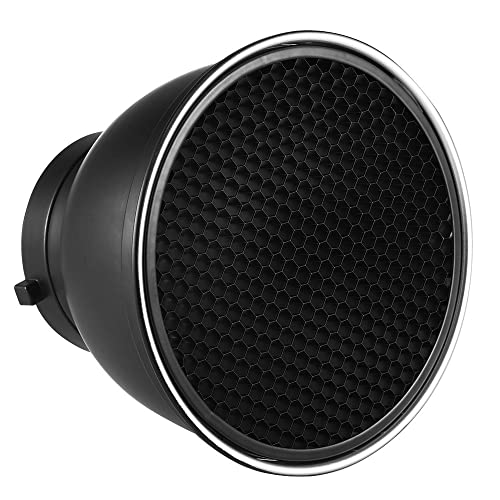 Andoer 7in Standard Reflector Diffuser Lamp Shade Dish with 60° Honeycomb Grid for Bowens Mount Studio Strobe Flash Light Speedlite