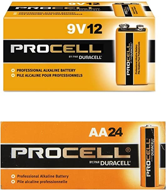 Amazon Com Duracell Procell Aa 24 Pack 9 Volt Batteries Pack Of 12 Health Personal Care