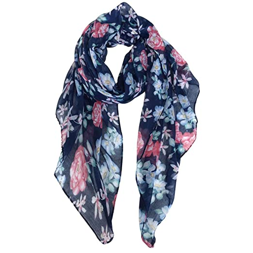 75b21f7efe3 Scarf Women Wraps Fashion Voile Scarves Shawls Echarpe Foulard Hijab Scarfs  Navy
