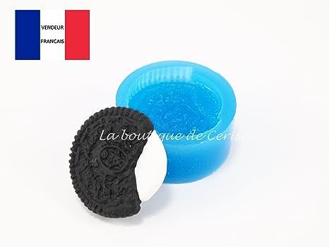 Promobo silicona molde galleta oréo para Fimo, plastilina, resine, porcelana fría