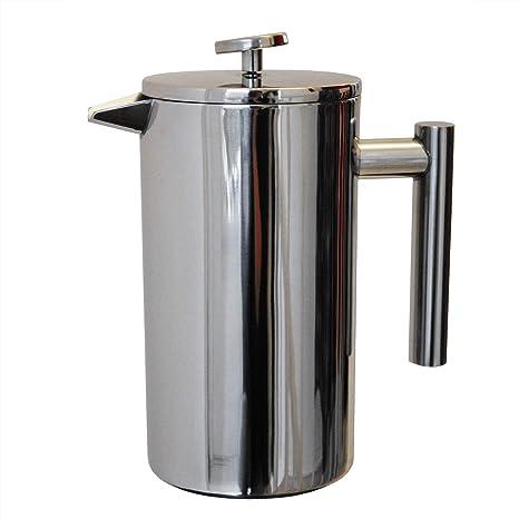 Cafetera francesa de acero con capacidad de 1 litro de acero ...