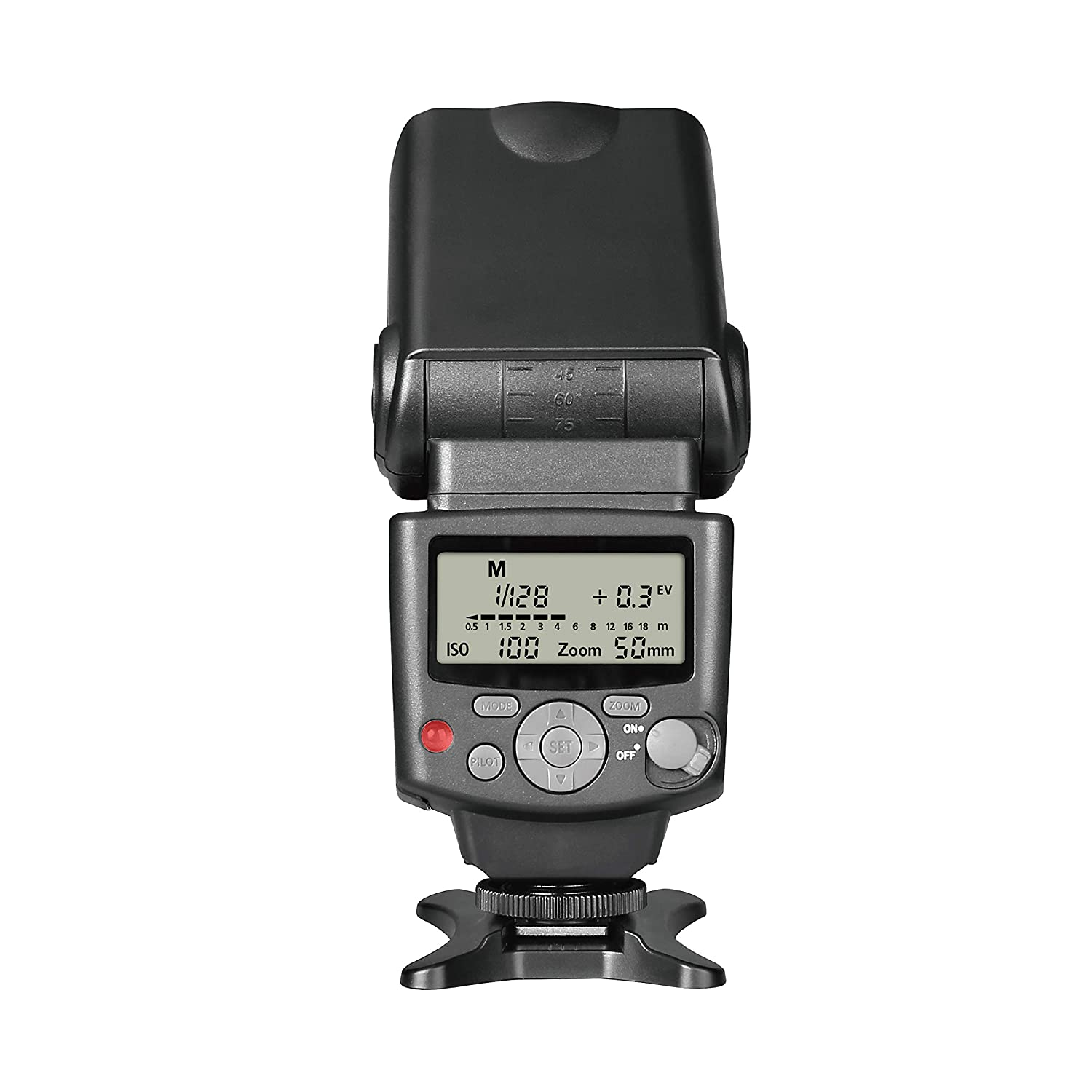 Voking VK430 I TTL Speedlite LCD Display Shoe Mount Flash for Nikon D3400 D3300 D3200 D5600 D850 D750 D7200 D5300 D5500 D500 D7100 D3100 and Other Digital DSLR Cameras with Standard Stand