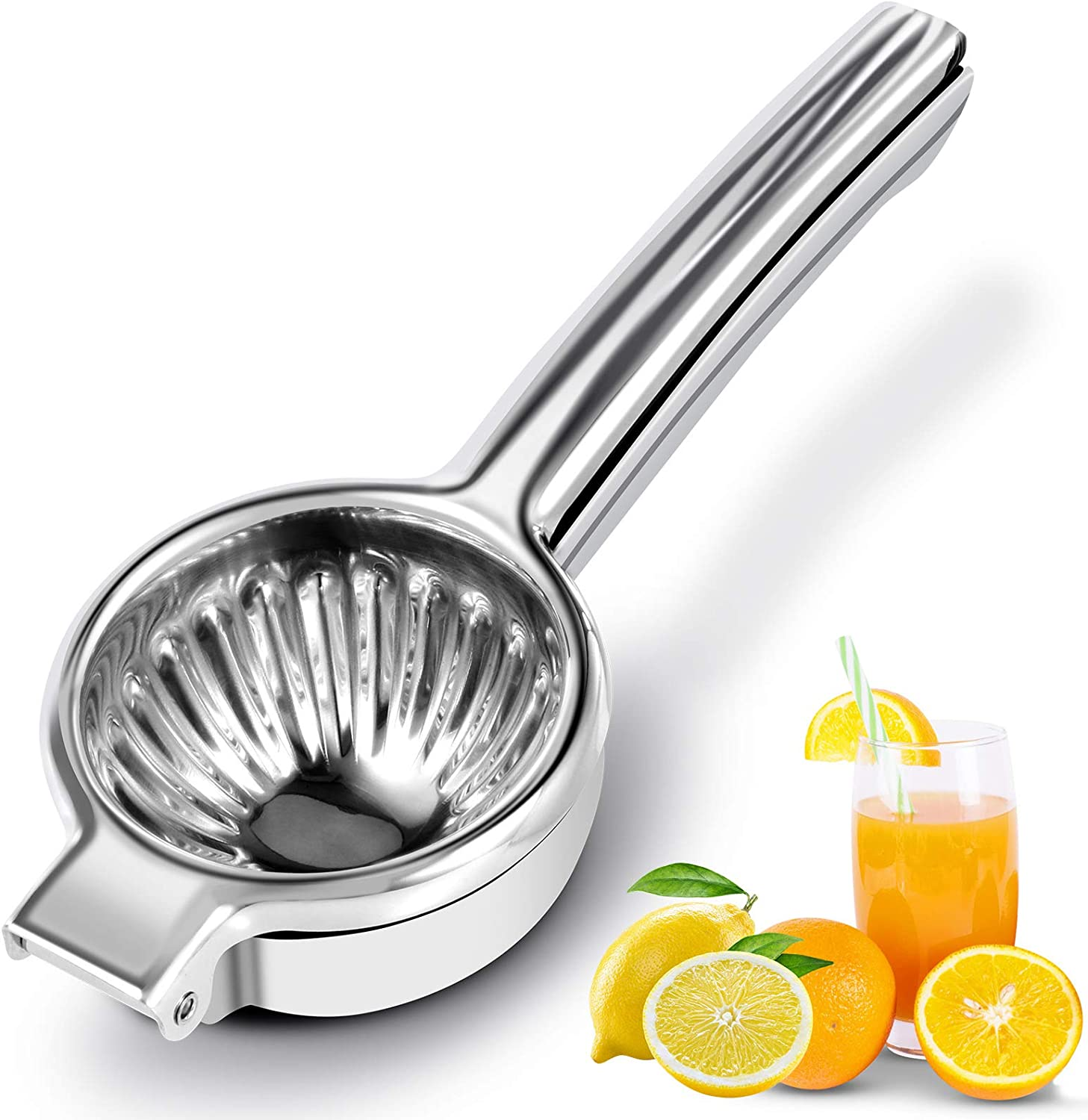 Lemon Squeezer Stainless Steel -2021 Upgraded Manual Citrus Press Juicer- Extra High Quality Solid Squeezer Bowl With 3.35Inch, Fruit Juicer& Citrus Press Squeezer, for Small Oranges, Limes& Lemons