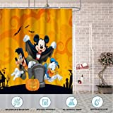 DISNEY COLLECTION Shower Curtain Disney Happy Halloween Bathroom Shower Curtains with Hooks