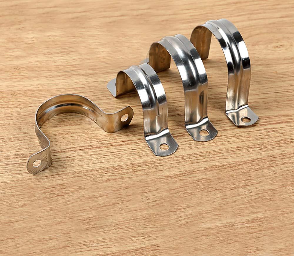 50 millimetri 304 acciaio inossidabile U-tubo morsetto di collegamento anello tubo morsetto scheda di guida carta da sella carta di fissaggio tubo 10 pz