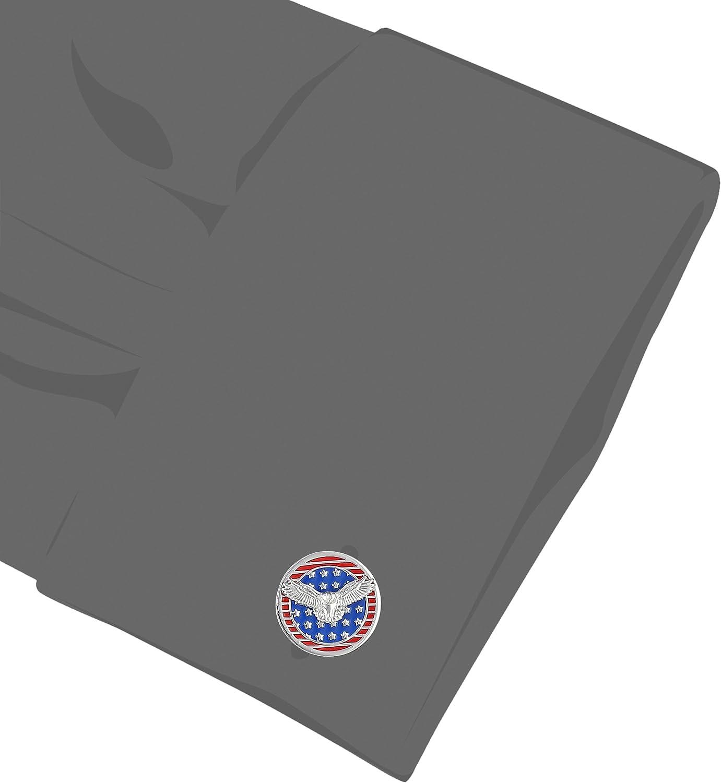 Tateossian Rotating Flags USA Flag Eagle Cuff Link