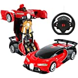 Amitasha Battery Operated Converting Car to Robot - Robot to Car Automatically Transformation Toy