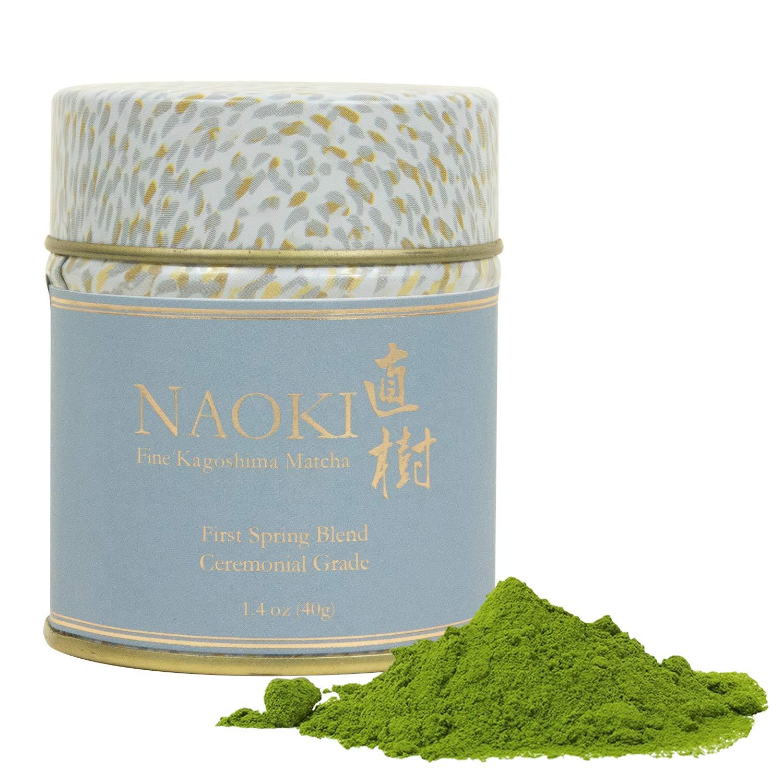 Naoki Matcha (Seasonal First Spring Blend, 1.4oz / 40g) - Authentic Japanese Matcha Green Tea Powder Ceremonial Grade from Kagoshima, Japan