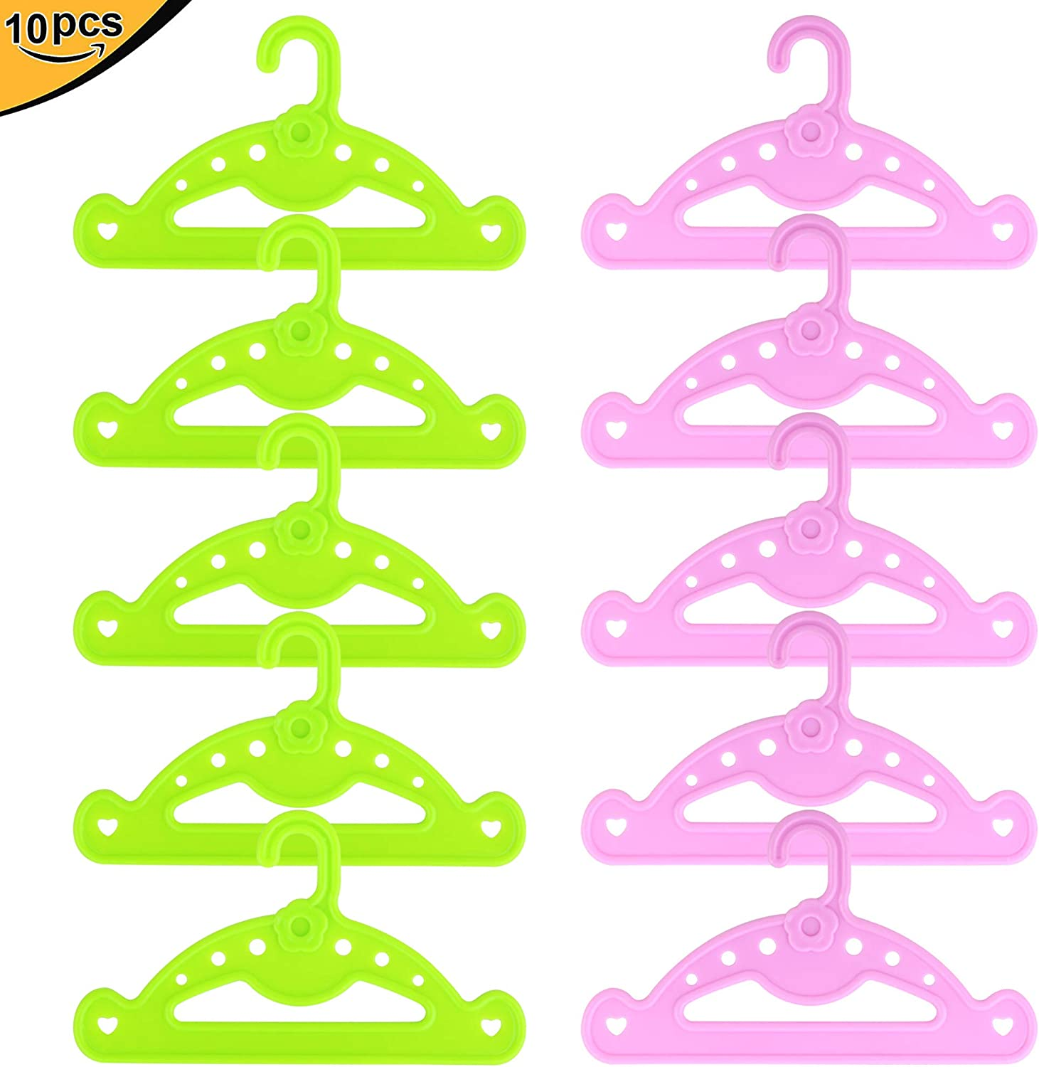 10pcs Fit For 18/'/' American Girl Clothes Hangers Set Rose Red New Doll Accessory